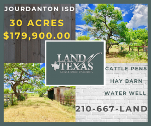 30 ACRES - CATTLE PENS, HAY BARN & WELL
