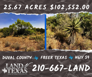 25 ACRES - FREER TX WITH EARTH TANK