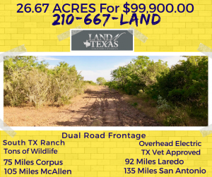 26.67 ACRES - OWNER FINANCE OPTIONS