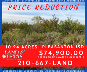 10.94 ACRES - IN PLEASANTON TX
