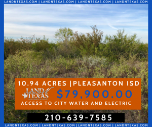 10.94 ACRES - IN PLEASANTON TX