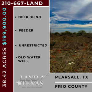 39.42 ACRES - PEARSALL, TEXAS