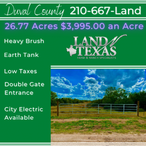 26.77 ACRES - SAN JOSE, TEXAS