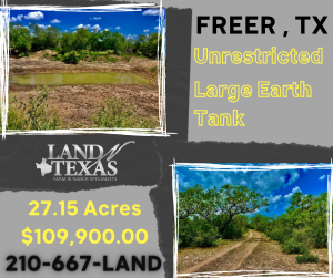 27.15 ACRES - LARGE EARTH TANK