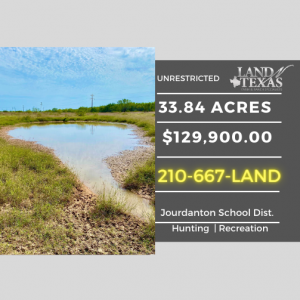 33.84 ACRES -  WITH LARGE EARTH POND