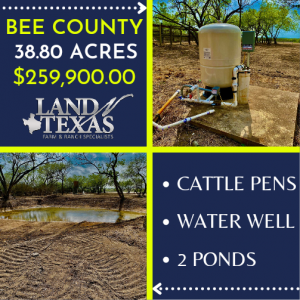 Unrestricted 38.30 Acre w/ Water Well & (2) Ponds