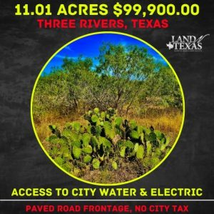 11.01 Acres w/ Access To Water & Electricity