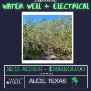 Unrestricted 32.11 Acres w/ Water Well